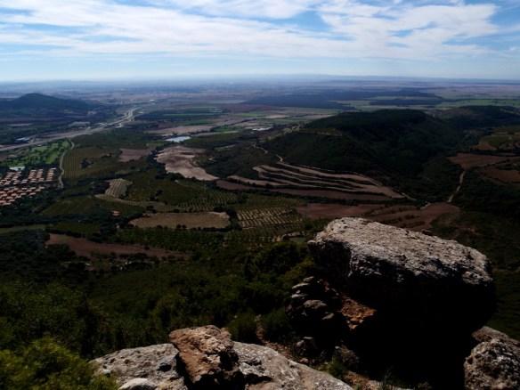Vistas a la Hoya de Huesca desde la Sierra de Gratal