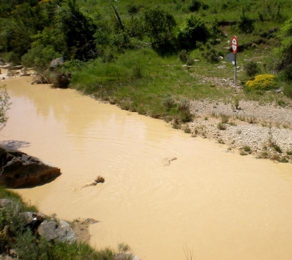 El Río Isuala en crecida
