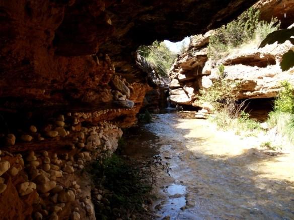 La bonita sala antes de llegar a la cascada del Formiga