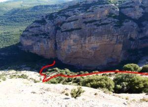 Itinerario orientativo de la Cresta de los Pepes hasta el fondo del valle del Isarre.