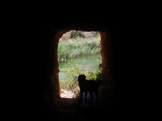 Robert en el túnel de la tubería
