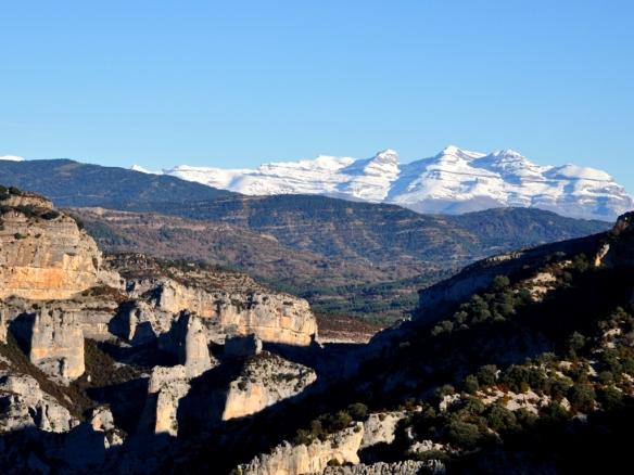 Vistas de la cresta de los Cagatés.