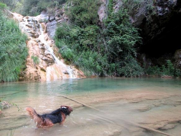 La primera poza en el Barranco de la Tosca