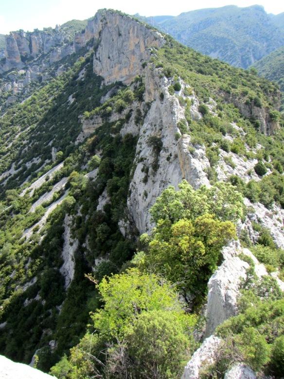 La cresta hacia las Puntas de Cagatés