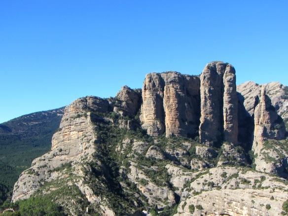 El Paso de la Losa visto desde las cercanías de la Cueva de los Murciélagos