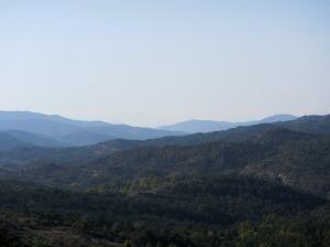 Las vistas hacia el oeste