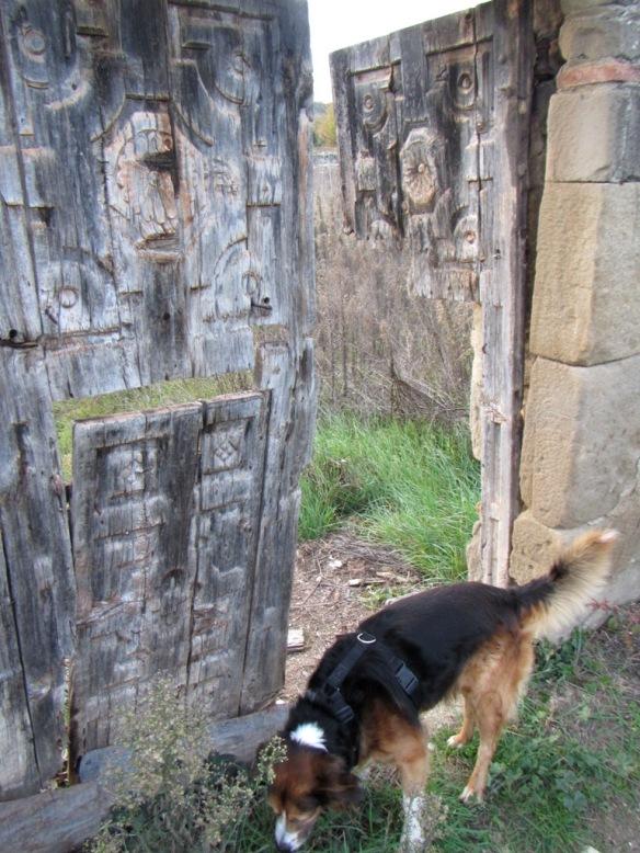 Detalle de un portal a un campo