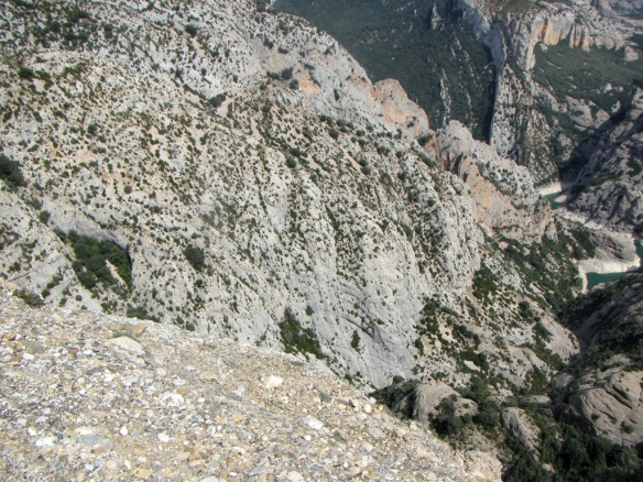 La vertiente norte del Barranco del Rincón de Lazas visto desde el macizo de Ligüerri