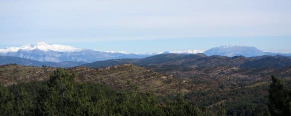 Vistas a Ibirque y el Pirineo