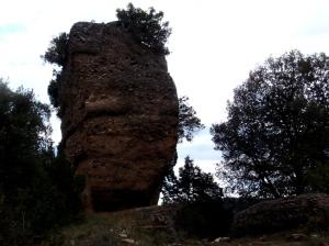 La cara norte del Castillo de Naya