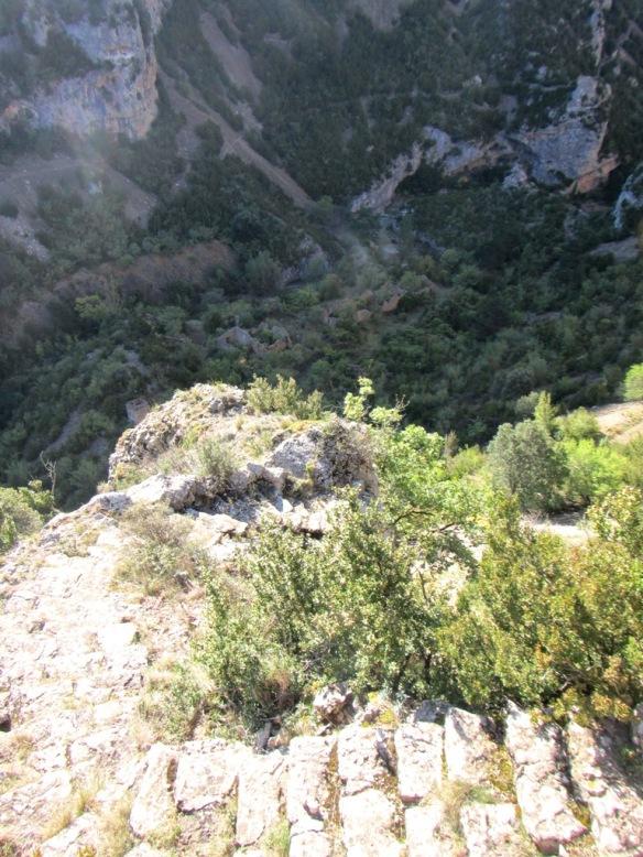 La Garganta de Cienfuens desde las cercanías del Refugio de Santa María de Belsué