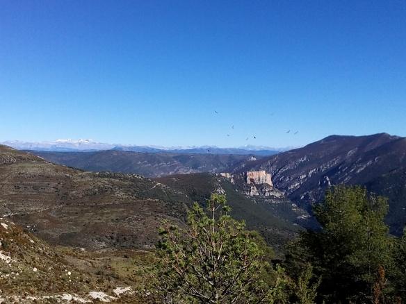 Las vistas a Cienfuens y el Pirineo