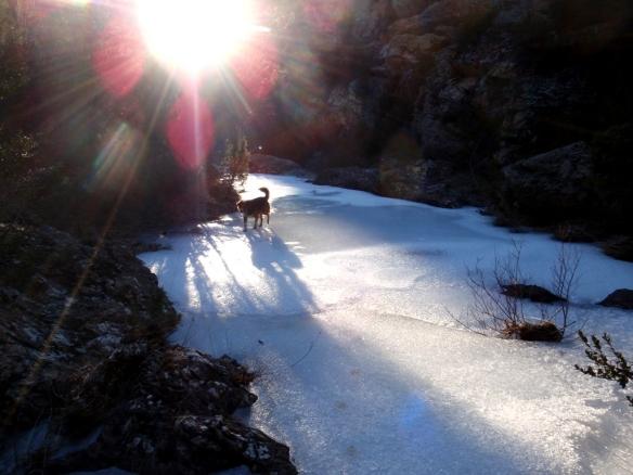 La entrada de la Carruaca en invierno