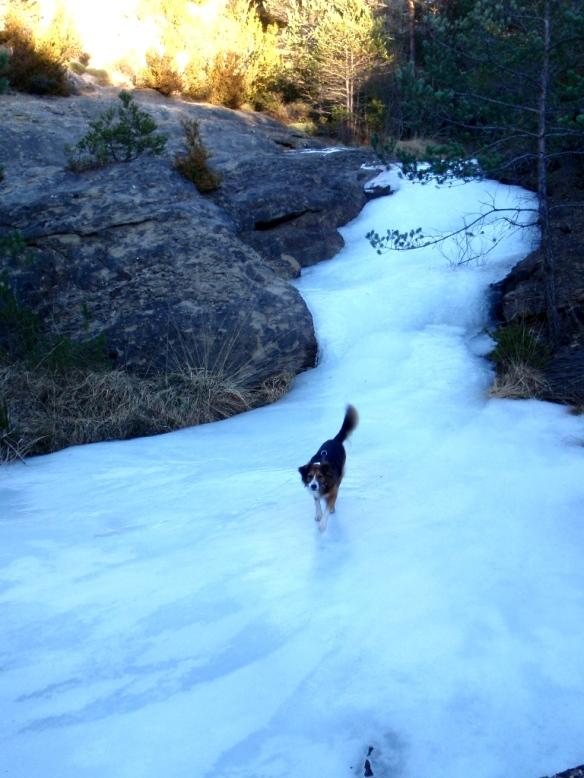Robert en el Barranco de Bara invernal