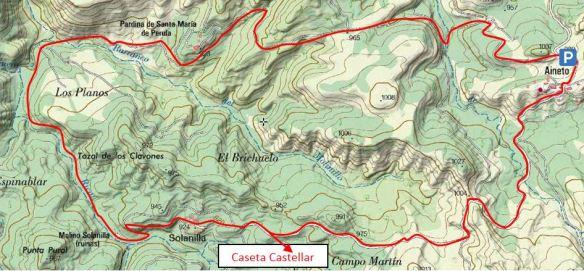 Croquis circular sobre el Mapa Sigpac