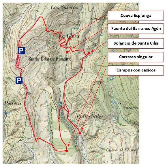 Croquis sobre mapa Sigpac